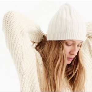 NWT J-Crew Cashmere Beanie Hat in Everyday OS